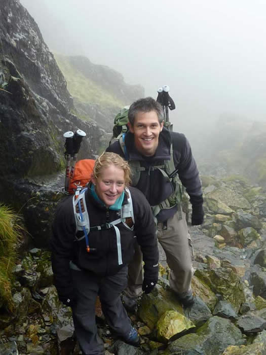 Ascending Scafell Pike via Mickledore